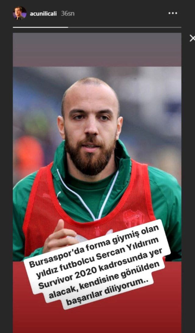 Photo of Acun duyurdu! G.Saray ve Bursa'da oynayan star futbolcu Survivor'da