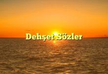 Photo of Dehşet Sözler