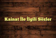 Photo of Kainat İle İlgili Sözler