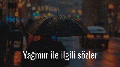 Photo of Yağmur İle İlgili Sözler