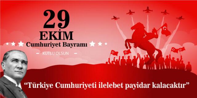 Resimli, resimsiz Bayraklı Cumhuriyet bayramı mesajları ile sözleri! En güzel 29 Ekim Cumhuriyet Bayramı mesajları ve sözleri!